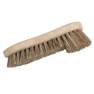 Traditional Old Fashioned Split Bristle Height Scrubbing Brush Manufactured in England