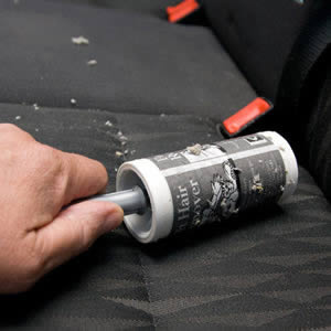 Caraselle Car Seat Upholstery Sticky Roller Brush. Quick & easy to use