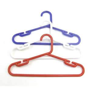 1 Pack of 10 Childs Polypropylene Hangers 30cms