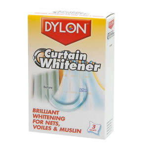 Caraselle Dylon Curtain Whitener.  Brilliant Whitener for Nets, Violes & Muslin. 3 Sachets per Pack.