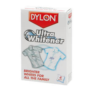 1 Pack of Caraselle Dylon Ultra Whitener.  Brighter Whites for All the Family. 4 Sachets per Pack.