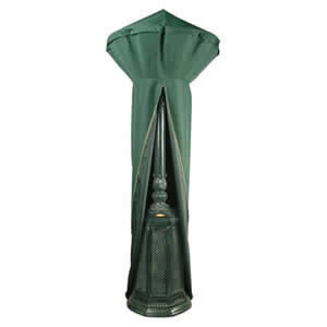 Deluxe Patio Heater Cover Top Quality Dark Green PVC Backed Polyester Waterproof Fabric with Strong Zip by Bosmere 179x124x56cm