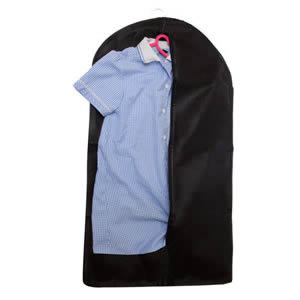 Caraselle Black Breathable Childrens Zipped Garment Cover  83 x 45 x 3 cms