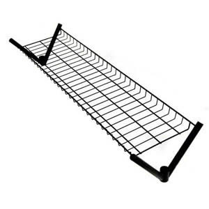 Unique Spacesaving 4' Top Shelf for our 4' Superior All Black Clothes Rail
