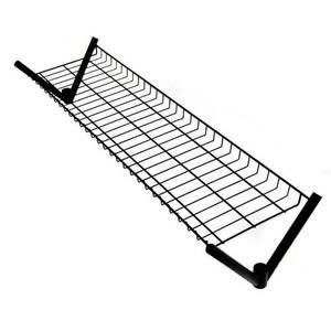 Unique Spacesaving 4' Top Shelf for our 4' Superior All Black Clothes Rail
