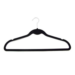 Non-Slip Suit Huggable Hanger in Black 45cm wide & 25cm high