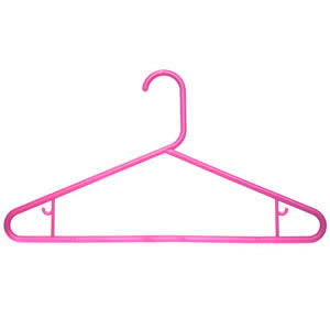 Caraselle Robust Pink Polypropylene Suit Hanger 42cm wide with Skirt Hooks