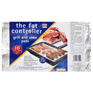 Caraselle pack of 10 x fat Controller Grill & Oven Pads Made in the UK