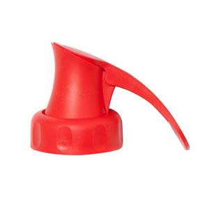 Red Topster Milk Top Pourer from Caraselle - For PLASTIC Milk Bottles only
