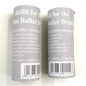 Pack of 2 Caraselle Refills for Mini Pocket Size Roller Brush 7.5x3cm