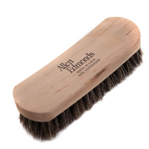 Deluxe Caraselle Woodlore Allen Edmonds Shoe Shine Brush with 100% Horsehair Bristles