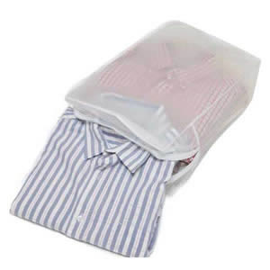 Peva Shirt Storage Bag to hold 5 Folded Shirts 43x28x14cms