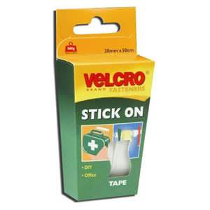 VELCRO® White Stick On Tape 20mm x 50cm (60224) from Caraselle