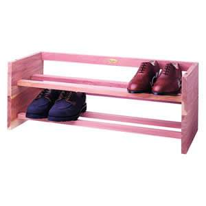 Large Woodlore Deluxe Cedar Stackable Shoe Rack from Caraselle