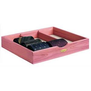 Woodlore Deluxe Natural Cedar Wood Tie Box