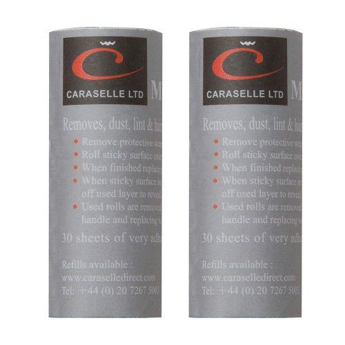 Pack of 2 Caraselle Refills for Mini Pocket Size Roller Brush 7.5x3cm