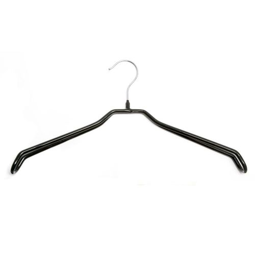 Black Non-Slip Hanger 39cm Extra Wide Shoulder Support by Caraselle