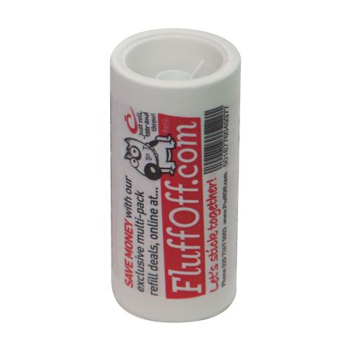 FluffOff Lint Remover Sticky Roller Refill with 7.5 metres long roll from Caraselle Direct's Lint Removers