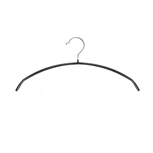 Caraselle Non-Slip Black Hangers fr Knitwear, jackets, Shirts, Blouses & T-Shirts with Chrome Hook
