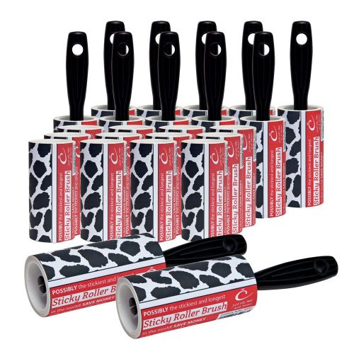 Buy The Caraselle pack of 12 x New Cowhide Design 7.5m Roller Brushes & 12 x Roller Refills