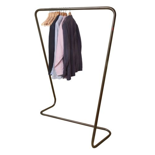 The New & Unique Caraselle Sculptural Garment Rail Finished in Iridescent Bronze. British Design & Manufacture. 120cm wide & 170cm high.