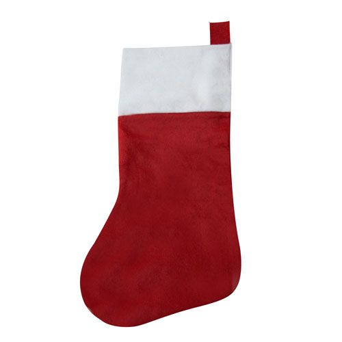 Traditional Christmas Stocking-Red and White