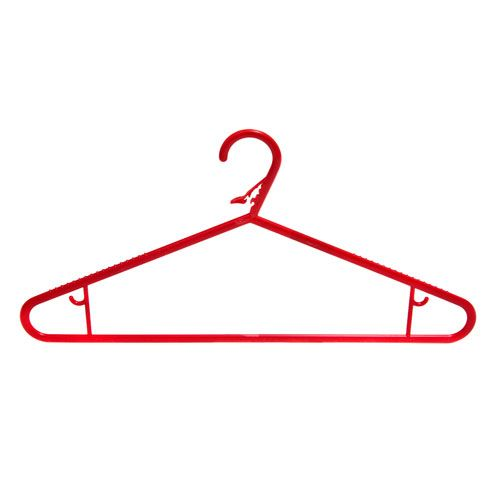 Caraselle 1 Pack of 5 HangDry Laundry Hangers in Red