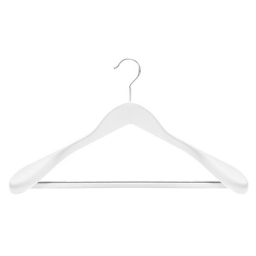 wooden coat hangers with non-slip trouser bar