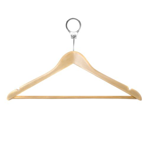 Budget Hotel Wooden Security Hanger from Caraselle