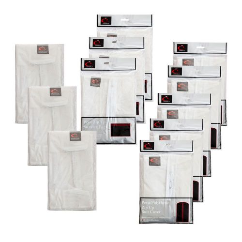 Peva Suit Covers x5,Shirt Bags x3,Sweater Bags x3 Pack Moth & Mould Proof by Caraselle