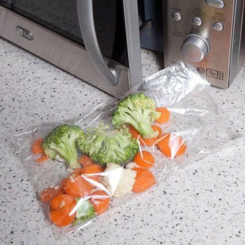 Quickasteam Microwave Cooking Bags - 3-6 servings Pack of 25