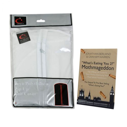 Caraselle Peva Suit Bag Soft Touch Cover with Caraselle Ultimate Moth Book
