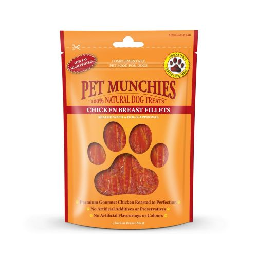 Pet Munchies Dog Treats - Chicken Breast Fillet 100g - 100% Natural 1906