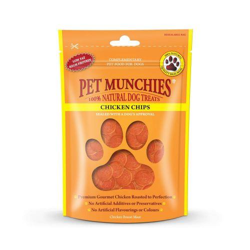 Pet Munchies Dog Treats - Chicken Chips 100g - 100% Natural 1907