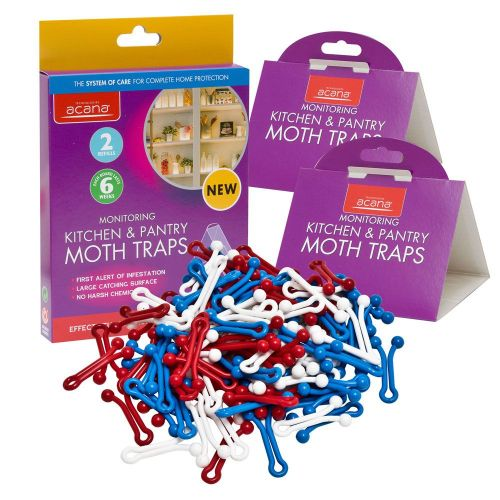 Kitchen Moth Attack Pack- 2 Pantry Moth Traps + 25 Bread Bag Clips 4cm
