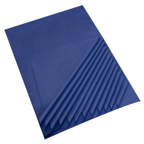 "Dark Blue Acid Free Tissue Paper Premium Grade 17 GSM paper measures : 500 x 750mm (20"" x 30"") 25 sheets per pack"