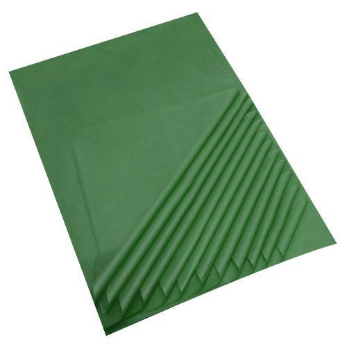 "Dark Green Acid Free Tissue Paper Premium Grade 17 GSM paper measures : 500 x 750mm (20"" x 30"") 25 sheets per pack"