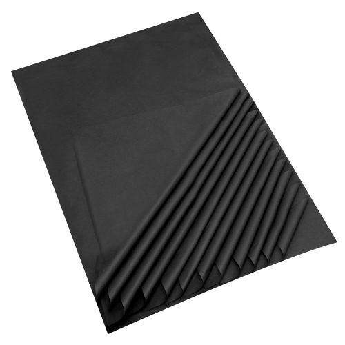 "Black Acid Free Tissue Paper Premium Grade 17 GSM paper measures : 500 x 750mm (20"" x 30"") 25 sheets per pack"