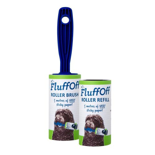 1x FluffOff Roller Brushes & 1 Refill total of 10m of very sticky paper
