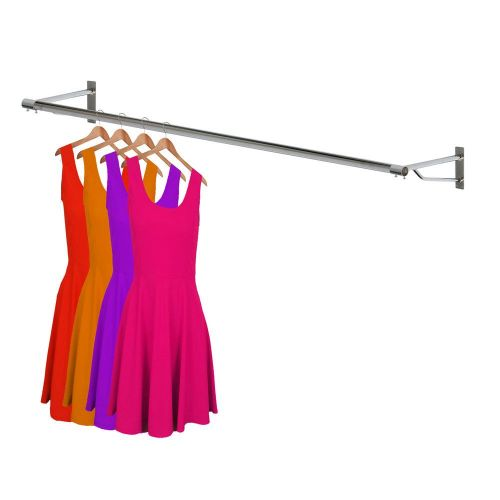 wall mounted clothes rail. Chrome Wall Mounted 6ft Garment Rail Clothes M