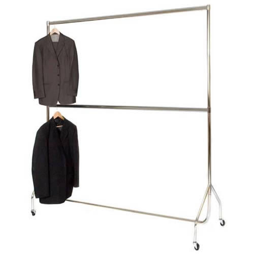 Garment Rails,Adjustable Chrome Centre Rail