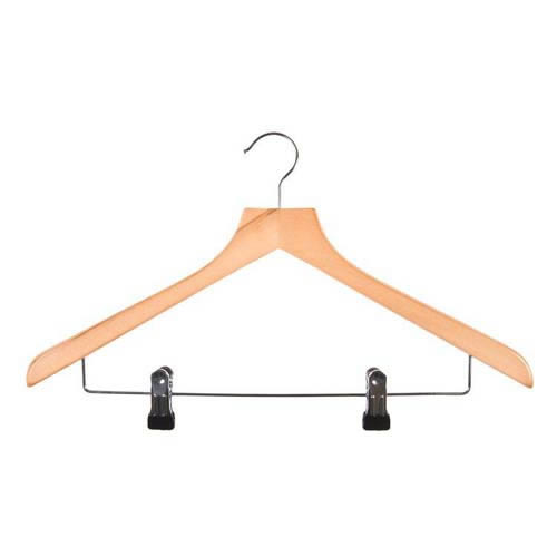 Wooden Trouser Hangers with Clips