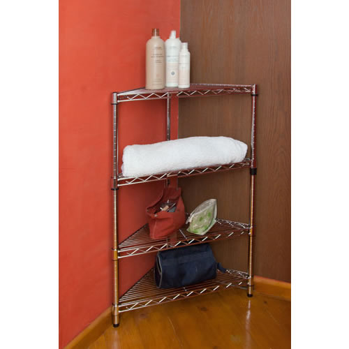 A Really Practical Strong Corner Shelving Unit Many Uses