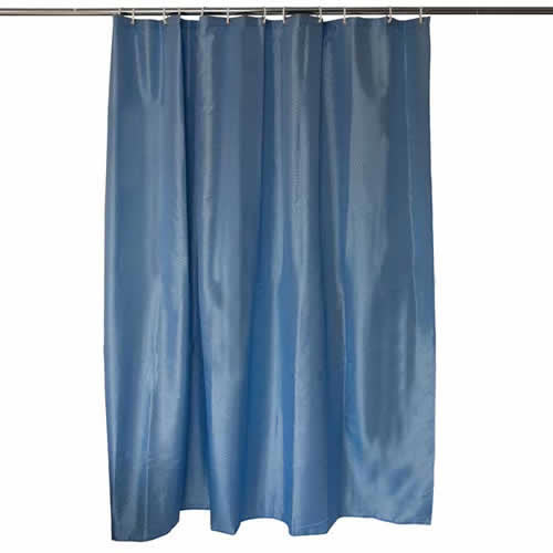 Caraselle Lt Blue Diamond Polyester Shower Curtain 180x180cm Rings