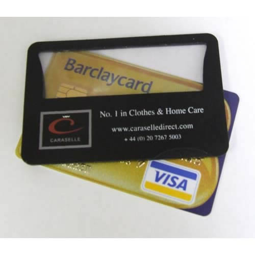 Credit card magnifier with L.E.D. light for sale