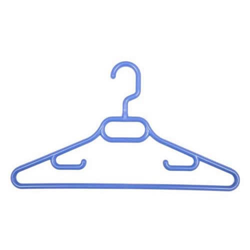 Childrens' Cornflower Blue Plastic Coat Hangers