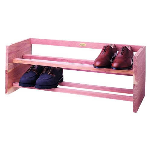 Deluxe-Stackable Shoe Rack in Cedar Wood by Woodlore