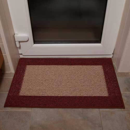 Machine Washable Door Mat In Dark And Dark Rust Amp 163 21 Amp 99