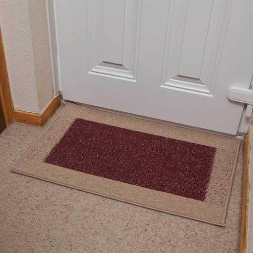 Madras Flooring: 15x Madras Door Mats In Light & Dark Rust 50x80cm