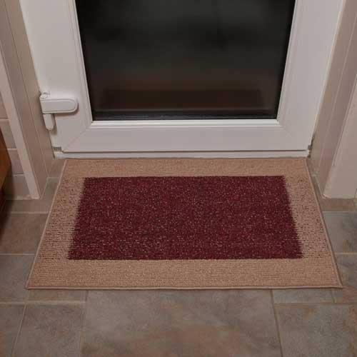 Machine Washable Door Mat In Light And Dark Rust Amp 163 21 Amp 99